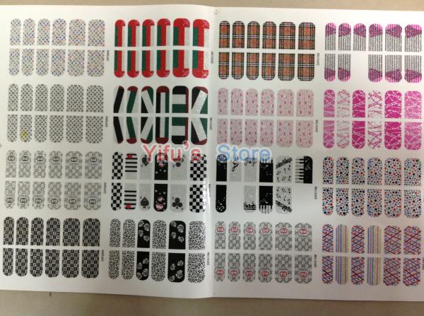 Grátis frete autoadesivo francês Trendy Nail Sticker Mix 16 estilos quebra prego Foil Patch arte produto 120 conjuntos atacado(China (Mainland))