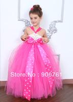 pink toddler children birthday  tutu dress, baby tutu dress, flower girl tutu dress 2-8Y