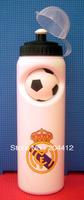 REAL MADRID FC SOCCER WATER DRINKS BOTTLE W/ BALL white
