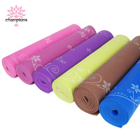 Pvc slip-resistant eco-friendly 6mm yoga mat print yoga mat at home mat fitness mat