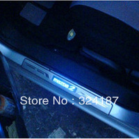 2013 High Quality New MAZDA M2/Familia welcome pedal LED light door sill strip   stainless steel,4pcs/set