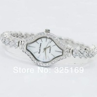 Free shipping 2013 Valentine wholesale Royal crown 3815 mother of pearl dial natural soviet drilling bracelet lady jewelry watch