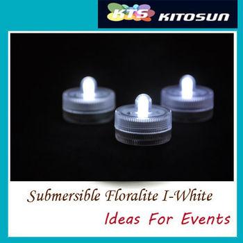 Factory vendor 120pcs White color Submersible battery led FLoralyte~Submersible led lights-underwater led light