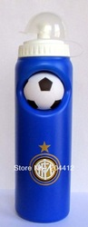INTER MILAN FC SOCCER WATER DRINKS BOTTLE WITH NON-SLIP FOOTBALL blue(China (Mainland))