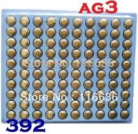100pcs AG3 392A SR41SW LR736 LR41 392 Watch Cell Button Batteries Alkaline for men women ladies children watches wholesale LOT