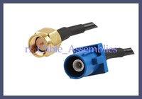 SMA plug to Fakra C Blue GPS telematics or navigation connectors SMA plug GPS antenna tieline connector