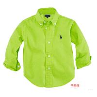 100% cotton casual shirt male child long-sleeve shirt white 100% cotton child shirt