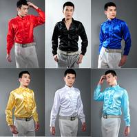 Men's clothing male long-sleeve shirt shirt costume chromophous