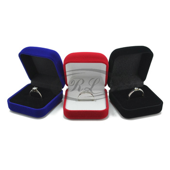 Hot-selling Multi Color Velvet jewelry Packaging And Display,Ring Box Free Shipping