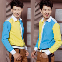 Male shirt collocations formal dress body costume