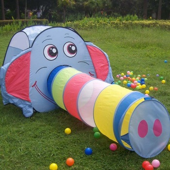 Free shipping by FEDEX funny colorful  Elephant kids play tent for indoor playground equipment christmas gifts