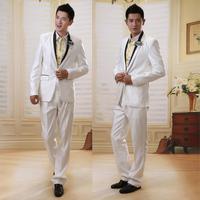 Men's clothing suit formal suits male suit male set groom wear