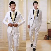 Male suit formal dress set clothes men's clothing suit formal dress white black