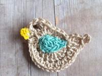 wholesale cotton hand crochet bird appliques scrapbooking sewing trim bow boutique DIY 50pcs/lot