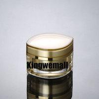 Free shipping  100pcs/lot Capacity  50g 50ml Acrylic Cream Jar Bottle  Cosmetic Container, Sample jar FV07