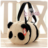 Soft panda handbag bucket bag