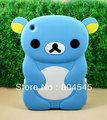 3D медведь панда кремния e мягкой Задней Крышки корпуса для Apple iPad мини-Синий MN21