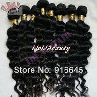 "New arrival Fumi hair!12""-28"" MIX LENGTH Peruvian virign remy human hair extension,#1,DEEP WAVE 3pcs/lot 300g Free ship"