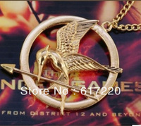 #40 Wholesale Vintage Gothic Punk The Hunger Game's Bird Pendant Necklace For Women&Men  Factory Price Free Shipping 20PCS/LOT