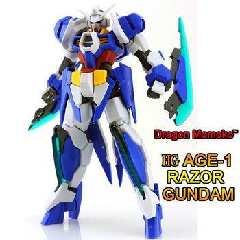 GUNDAM Free Shipping/[AGE-1 R]  HG1:144  RAZOR Gundam .Dragon Momoko model.
