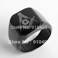 Free shipping! 3pieces Masonic Ring Freemason Jewelry Stainless Steel