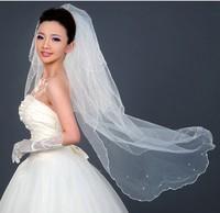 1 Piece 3 Layers Long Veil 130cm Lace Bride Veil Best Bridal Veil