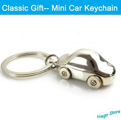 Free Shipping Alloy Keychain Lover's Gift Mini Car Key Chains Novelty Promotional Gift(China (Mainland))