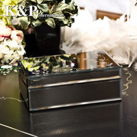 Princess fashion dweh royal glass jewelry box with diamond, black, super shinning, valentine day gift