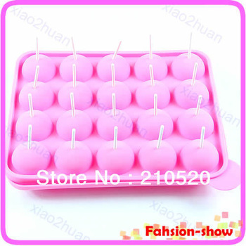 Free Shipping New Silicone 20Slots Cake Mould Chocolate Lollipop
