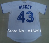 New arrived player  Baseball Jersey   #43 R A Dickey 43  white color third  jerseys size: M-XXXL