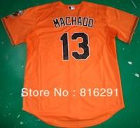 New arrived player  Baseball Jersey   #13 Manny Machado 13 Orange  color away   jerseys size: M-XXXL