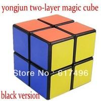 yongjun magic cube 2x2x2 high quality cube two-layer magic toys black version