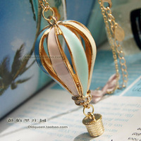 Min.order is $15 (mix order)~Free shipping,New Arrival Hot Selling Colorful Hot Air Balloons Long Necklace Sweater Chain~4064
