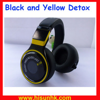 Hot sale black and yellow detox headphone pro headphone for DJ studio headphone with cheap price by DHL/EMS+AAAAA Quality