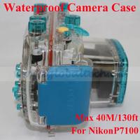 best underwater camera case bag for NikonP7100, camera waterproof case 40m/130ft depth waterproof box for camera nikon