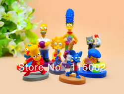 Free shipping The simpsons Collection figure Simpson decoration action figure children toys 2-5cm ( 8pcs/set)(China (Mainland))