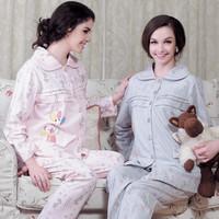 Maternity nursing set nursing sleepwear maternity derlook autumn and winter thick month of clothing