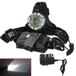 1800LM CREE XM-L XML T6 LED Headlamp Rechargeable Headlight + Charger Free Shipping TK0376(China (Mainland))