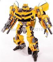 18cm No Original Box Robot Human Alliance Bumblebee Optimus Girmlock Jazz Ironhide Megatron Sideswipe Action Figures drop ship