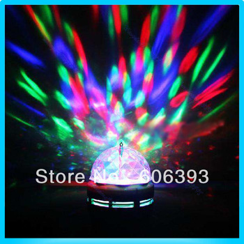 C18RGB Crystal Ball Effect Light E27 LED Rotating Stage Lighting For Disco DJ Party Colorful Free Shipping
