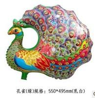 Free shipping  foil balloon party balloon animal shape Peacock helium balloon, Wholesale#Retail 100pcs a lot