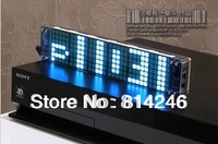 Free shipping !!!GPS correction time, 5 * 7 5x7 squares seamless animation effects Digital Clock