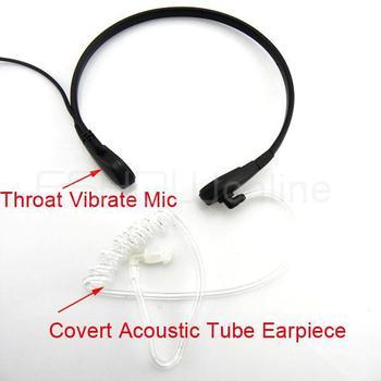10pcs Throat Mic Air Tube Headset for ICOM F3 V8 F21BR Maxon Walkie talkie two way CB Ham Radio C0011A Fshow