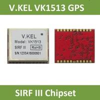 V.KEL VK1513 GPS module,SIRT III, SIRF 3 Chipset, GPS Tracker, GPS Receiver, RoHS, 20 Channels. 1.56CM*1.38*0.25