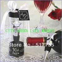 NEW ARRIVAL+Crystal Heart Chrome Bottle Stopper wine set wedding opener favors and gifts +1pcs/set+12sets/lot