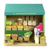 3D paper model - cute Japanese hut - a full set of 20 models - food shop
