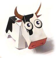 3d - small animal - easy milk cow