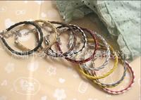Free shipping!Handmade Fashion cow leather braided  Bracelets ,Friendship Bracelets,Genuine leather wristband bracelet