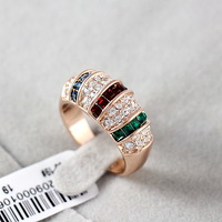 New Arrival 18K Rose Gold Plated Royal Queen Index Finger Ring Free Shipping