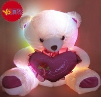 Colorful luminous light-emitting pillow plush toy teddy  bear doll christmas birthday gift